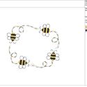 Méhecske Keret Hímzésminta Gépi Hímzéshez, Csináld magad leírások, Hímzés, Méhecske Keret Hímzésminta Gépi Hímzéshez. Ez egy digitális file amit emailben fogsz megkapni és cs..., Alkotók boltja