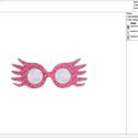 Luna Lovegood Szemüveg Hímzésminta Gépi Hímzéshez, Csináld magad leírások, Hímzés, Luna Lovegood Szemüveg Hímzésminta Gépi Hímzéshez. Ez egy digitális file amit emailben fogsz megkap..., Alkotók boltja