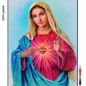 Előfestett gobelin alap - Mária szíve, Dekorációs kellékek, Ez a gobelin minta 45x60cm (teljes méret), 100%-os pamut keményített gobelin alapanyagra festve kész..., Alkotók boltja