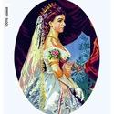Előfestett gobelin alap - Erzsébet királyné - Sisi, Dekorációs kellékek, Ez a gobelin minta 45x60cm (teljes méret), 100%-os pamut keményített gobelin alapanyagra festve kész..., Alkotók boltja