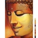 BUDDHA FEJ - előfestett gobelin alap, Textil, Vegyes alapanyag, Festett tárgyak, festészet, Festékek, Festő szerszámok, Ez a gobelin minta 30x40cm (teljes méret), 100%-os pamut, keményített,44/cm2-es, fehér gobelin alap..., Alkotók boltja
