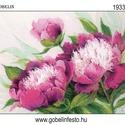 Festett gobelin minta - Pünkösdi rózsák, Textil, Pamut, Ez a gobelin minta 45x60cm (teljes méret), 100%-os pamut keményített gobelin alapanyagra festve kész..., Alkotók boltja