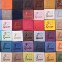 Textilbőr címke, Textil, Felvarrható kellék, Minőségi termékcímkéket tervezünk, készítünk kis szériában is. Puha, tartós textilbőreink nagy színv..., Alkotók boltja