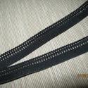 Csipkegumi 16  mm-es, Textil, Szalag, pánt, Varrás, Szalag, Fekete , 16 mm széles , Alkotók boltja