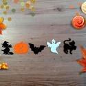 Halloween filc formák, Őszi dekoráció, Dekorációs kellékek, Textil, Decoupage, szalvétatechnika, Mindenmás, Varrás, 5 Darab különböző Filc Hallloween lapos forma.  Remek, könnyen kezelhető Halloween-i vagy Őszi deko..., Alkotók boltja