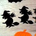 Boszorkány filc, Halloween filc formák, Őszi dekoráció, Halloween kreatív, koszorú, ajtódísz, fekete, narancssárga, Dekorációs kellékek, Textil, Decoupage, szalvétatechnika, Mindenmás, Varrás, 3 Darab Boszorkány fekete Filc Hallloween lapos forma.  Remek, könnyen kezelhető Halloween-i vagy Ő..., Alkotók boltja