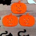 Halloween tök filc, Halloween filc formák, Őszi dekoráció, Halloween kreatív, koszorú, ajtódísz, fekete, narancssárga, Dekorációs kellékek, Textil, Decoupage, szalvétatechnika, Mindenmás, Varrás, 3 Darab Narancs tök Filc Hallloween lapos forma.  Remek, könnyen kezelhető Halloween-i vagy Őszi de..., Alkotók boltja