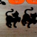 Fekete Macska filc, Halloween filc formák, Őszi dekoráció, Halloween kreatív, koszorú, ajtódísz, fekete, cica, Dekorációs kellékek, Textil, Decoupage, szalvétatechnika, Mindenmás, Varrás, 3 Darab Cica fekete Filc Hallloween lapos forma.  Remek, könnyen kezelhető Halloween-i vagy Őszi de..., Alkotók boltja