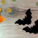 Fekete Denevér filc, Halloween filc formák, Őszi dekoráció, Halloween kreatív, koszorú, ajtódísz, fekete, narancssárga, Dekorációs kellékek, Textil, Decoupage, szalvétatechnika, Mindenmás, Varrás, 3 Darab Denevér fekete Filc Hallloween lapos forma.  Remek, könnyen kezelhető Halloween-i vagy Őszi..., Alkotók boltja