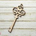 Kulcs kicsi lézervágott, Fa, Dekorációs kellékek, Virágkötészet, A fa kulcs mérete: 8x4cm akrillal tudod befesteni   A terméket a felorolt postaköltségeken tudom el..., Alkotók boltja