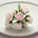 Habrózsa drótos 8db - rózsaszín, Dekorációs kellékek, Egyéb kellékek, Varrás, Papírművészet, Virágkötészet, (8DB/SZETT)  - a rózsa átmérője 2cm - a drót hossza: 11cm  Sokoldalúan felhasználhatod!  Díszíthets..., Alkotók boltja