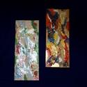Tavasz-ősz festmény 3 D kép, Otthon & lakás, Dekoráció, Képzőművészet, Festmény, Lakberendezés, Festészet, Mindenmás,   Modern lakáshoz kiváló választás!!    Az őszi képen megtalálható a fáról lehulló falevelek összes..., Meska