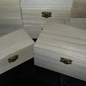 13 db kicsi és közepes natúr doboz fa, Fa, Doboz, Decoupage, szalvétatechnika, Festett tárgyak, festészet, Decoupage alap, A dobozok kb. méretei : 15,5x9,5x7,5cm 12,5x6,5x5,5cm Az ár 13 db dobozra vonatkozik., Alkotók boltja