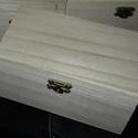 1 db közepes  natúr doboz fa, Fa, Doboz, Decoupage, szalvétatechnika, Festett tárgyak, festészet, Decoupage alap, 1 db doboz 15,5x9,5x7,5cm Az ár 1 dobozra vonatkozik., Alkotók boltja