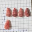 argentina_rodokrozit csepp alakú kabosonok, Gyöngy, ékszerkellék, Cabochon, Ékszerkészítés, 30*16*6 mm, Alkotók boltja