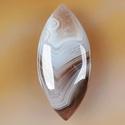 természetes Botswana achát kaboson, Gyöngy, ékszerkellék, Cabochon, 31*19*5 mm, Alkotók boltja
