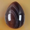 természetes Botswana achát kaboson, Gyöngy, ékszerkellék, Cabochon, 25*18*7mm, Alkotók boltja