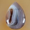 természetes Botswana achát kaboson, Gyöngy, ékszerkellék, Cabochon, 27*19*5 mm, Alkotók boltja