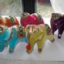 Elefántok kulcstartó készítéséhez (vagy egyéb felhasználásra), Dekorációs kellékek, Figurák, Édes színes elefántokat kínálok eladásra. Én kulcstartót készítettem belőle.  Egy figura ára 750 for..., Alkotók boltja
