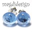 Áttetsző víz kék üvegékszer pötty fülbevaló, Ékszer, Táska, Divat & Szépség, Fülbevaló, Ruha, divat, Ékszerkészítés, Üvegművészet, Óriási színválaszték kapcsos és stiftes fülbevalókból boltomban!!! Áttetsző víz kék muránói ékszerü..., Meska