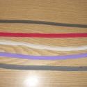 Pikós gumi  -  több színben - 8 -10 - 12 mm - 1 m 50.-Ft , Több színben pikós gumi  fehér, nagyon pink, s...