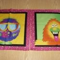 Édes kis szörnyecskék - 30 x 30 cm blokk  USA design , Textil, Pamut, Alkotók boltja