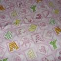 CSAJOS - Betűmintás  - 55 x 30 cm minőségi textil  USA design , Textil, Pamut, Kiváló minőségű - egyedi tervezésű - jogvédett termék -  Textil - akár - patchwork - anyag  USA Desi..., Alkotók boltja