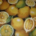 Üdítő citromok :o) 0,5 m minőségi textil  francia design 140 cm, Textil, Pamut, Kiváló minőségű - egyedi tervezésű - jogvédett termék -  Textil - akár - pachwork - anyag  Francia D..., Alkotók boltja