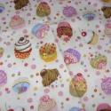 Muffinos USA egyedi Design textil:o)  57,5 x 30 cm minőségi textil  USA design , Textil, Pamut, Mindenmás, Varrás, Textil, Kiváló minőségű - egyedi tervezésű - jogvédett termék -  Textil - akár - pachwork - anyag  USA Desi..., Alkotók boltja