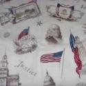 USA vintage-történelem patchwork USA design textil 55 x 30 cm minőségi  USA design , Textil, Pamut, Kiváló minőségű - egyedi tervezésű - jogvédett termék -  Textil - akár - patchwork - anyag..., Alkotók boltja