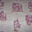 Gyerekek - 2 szín toile vintage  patchwork USA design textil 55 x 30 cm minőségi  USA design , Textil, Pamut, Kiváló minőségű - egyedi tervezésű - jogvédett termék -  Textil - akár - patchwork - anyag..., Alkotók boltja