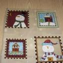 4 mini blokkos Karácsonyi blokk USA design minőségi textil:  30 x 30 cm , Kiváló minőségű - egyedi tervezésű - jogvé...