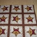 9 db-os kis blokkos karácsonyi  USA design minőségi textil:  30 x 30 cm , Textil, Pamut, Mindenmás, Varrás, Textil, Kiváló minőségű - egyedi tervezésű - jogvédett termék -  Textil - akár - patchwork - anyag  USA Des..., Alkotók boltja