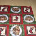 9 db-os kis blokkos karácsonyi  USA design minőségi textil:  30 x 30 cm , Textil, Pamut, Kiváló minőségű - egyedi tervezésű - jogvédett termék -  Textil - akár - patchwork - anyag  USA Desi..., Alkotók boltja