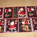 8 télapós blokkos karácsonyi USA design minőségi textil:  50 x 30 cm , Textil, Pamut, Kiváló minőségű - egyedi tervezésű - jogvédett termék -  Textil - akár - patchwork - anyag  USA Desi..., Alkotók boltja