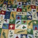 Apró mintás karácsonyi - több féle USA design textil:  55 x 30 cm , Textil, Pamut, Mindenmás, Varrás, Textil, Kiváló minőségű - egyedi tervezésű - jogvédett termék -  Textil - akár - patchwork - anyag  USA Des..., Alkotók boltja