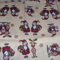 Méterben is - Rénszarvasos karácsonyi  patchwork német design textil 70 x 30 cm minőségi  USA design , Textil, Pamut, Mindenmás, Varrás, Textil, Kiváló minőségű - egyedi tervezésű - jogvédett termék -  Textil - akár - patchwork - anyag  Német D..., Alkotók boltja
