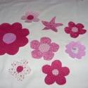 7 db-os virág csomag a kért színben - applikáció - vasalható  - többféle 999.-Ft, Textil, Felvarrható kellék, Alkotók boltja