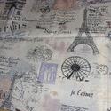Párizs design textil méterre 140 cm széles, Textil, Pamut, , Alkotók boltja