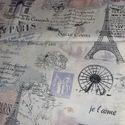 Párizs design textil méterre 140 cm széles, Textil, Pamut, Alkotók boltja