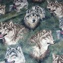 Farkasok mintás  USA egyedi Design textil:o)  55 x 30 cm minőségi textil  USA design , Kiváló minőségű - egyedi tervezésű - jogvé...