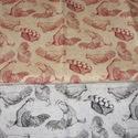 Kakasok - tyúkok 2 féle USA egyedi Design textil:o)  55 x 30 cm minőségi textil  USA design , Textil, Pamut, Kiváló minőségű - egyedi tervezésű - jogvédett termék -  Textil - akár - patchwork - anyag  USA Desi..., Alkotók boltja