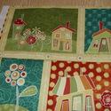 4 db-os házikós blokk több féle minőségi USA egyedi Design textil:o)  32 x 131 cm , Textil, Pamut, Mindenmás, Varrás, Textil, Kiváló minőségű - egyedi tervezésű - jogvédett termék -  Textil - akár - patchwork - anyag  USA Des..., Alkotók boltja