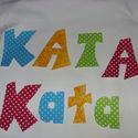 Tedd egyedivé gyermekeid ruháid - betűk - számok textilmatrica  - vasalható betűk, Textil, Felvarrható kellék, Dobd fel a családi ruhatárad!  Készíts 3 D díszítést  Figyelem! A póló ebben az aukcióban ..., Alkotók boltja