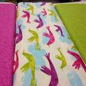 Madarak - több féle 55 x 30 cm minőségi textil  USA design , Textil, Pamut, Kiváló minőségű - egyedi tervezésű - jogvédett termék -  Textil - akár - pachwork - anyag  USA Desig..., Alkotók boltja