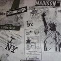 New York mintás design textil 140cm 100% pamut, Jó minőségű termék -  Textil - akár - patchw...