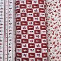 Karácsonyi apró mintás német design textil 70 x 30 cm , Textil, Pamut, Alkotók boltja