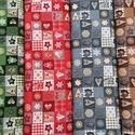Karácsonyi patchwork mintás német design textil 70 x 30 cm , Textil, Pamut, Kiváló minőségű - egyedi tervezésű - jogvédett termék -  Textil - akár - patchwork - anyag..., Alkotók boltja