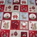 Karácsonyi patchwork mintás német design textil 70 x 30 cm , Textil, Pamut, Kiváló minőségű - egyedi tervezésű - jogvédett termék -  Textil - akár - patchwork - anyag  Német De..., Alkotók boltja