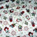 Karácsonyi baglyos és más mintás német design textil 70 x 30 cm , Textil, Pamut, Mindenmás, Varrás, Textil, Kiváló minőségű - egyedi tervezésű - jogvédett termék -  Textil - akár - patchwork - anyag  Német D..., Alkotók boltja